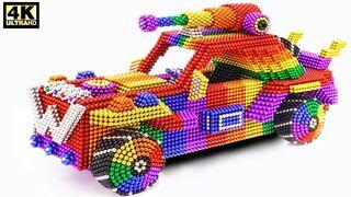DIY - كيفية صنع سيارة شرطة ماد ماكس مذهلة من الكرات المغناطيسية (ASMR)
