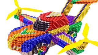 DIY - كيف تصنع سيارة هليكوبتر من كرات مغناطيسية (مرضية)