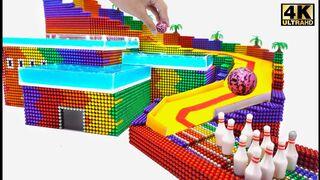 DIY - كيفية جعل ملعب لعبة البولينج الشريحة من الكرات المغناطيسية (مرضية)   Oddly Magnets