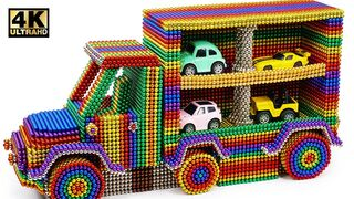 DIY - How to Make Delivery Truck Car Using Magnetic Balls (Satisfying)