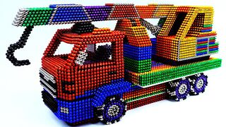 Satisfying Video Magnet Ball | How To Make Crain Truck Car With Magnetic Balls ASMR