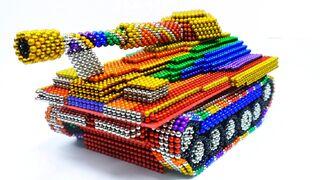 Satisfying vidoe   Build Amazing Super Tank From Magnetic Balls ASMR