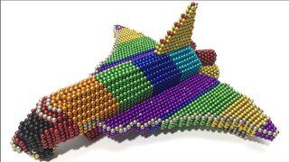 Cách chế tạo tàu con thoi bằng nam châm | How to make space shuttle with magnetic ball (ASMR) - DIY