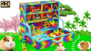 Satisfying Video 4K | How To Build Chest Box House Has Rainbow Slide For Hamster | Magnet Creative