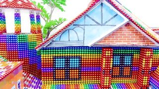 Satisfying Video 4K | How To Build Simple Villa House Has Layered Roof For Hamster | Magnet Creative