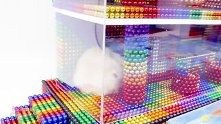 Satisfying Video 4K | How To Build Gaint Aquarium Glass House For Hamster | Magnet Creative