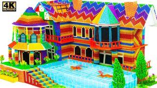 DIY - Como construir uma mansão com piscina para peixes dourados a partir de bolas magnéticas