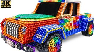 DIY - How To Make Amazing Jeep Gladiator Car From Magnetic Balls (Satisfying) | Magnet Creative