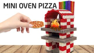 DIY - How To Make a Mini OVEN PIZZA With Magnetic Balls   Magnet Creative