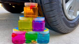 Experiment Car vs Pyramid Slime | Crushing Crunchy & Soft Things by Car