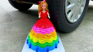 Experiment Car vs Princess Cake | Crushing Crunchy & Soft Things by Car